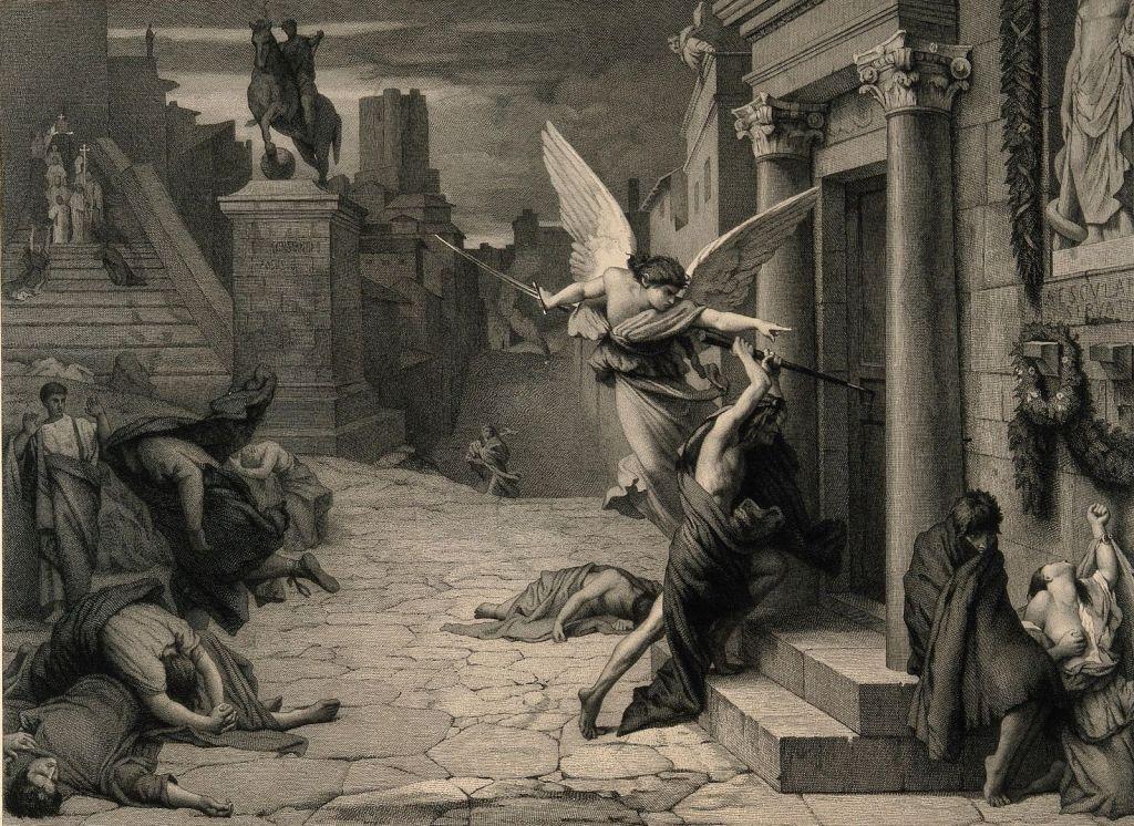 """Jules-Élie Delaunay's """"Plague in Rome"""" (1869)"""